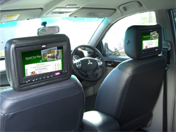 In Car Advertisements Screens
